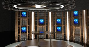 Virtuele TV-Praatjereeks 17 Royalty-vrije Stock Fotografie