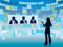 Virtuele vergadering Stock Afbeeldingen