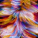 Virtuele Vloeibare Kleur Stock Afbeelding