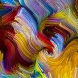 Virtuele Vloeibare Kleur Stock Foto