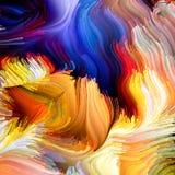 Virtuele Vloeibare Kleur Royalty-vrije Stock Afbeeldingen