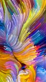 Virtuele Vloeibare Kleur Royalty-vrije Stock Foto