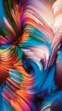 Virtuele Vloeibare Kleur royalty-vrije illustratie