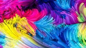 Virtuele Vloeibare Kleur vector illustratie