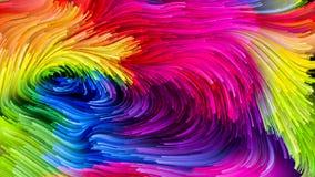 Virtuele Vloeibare Kleur stock illustratie