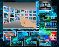 Virtuele werkelijkheid Stock Foto