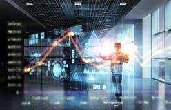 Virtuele werkelijkheidservaring Technologieën van de toekomst royalty-vrije stock fotografie