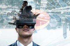 Virtuele werkelijkheidservaring Technologie?n van de toekomst Gemengde media stock foto's