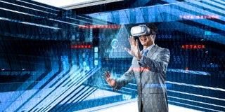 Virtuele werkelijkheidservaring Technologie?n van de toekomst stock foto's