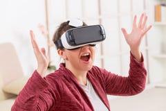 Virtuele werkelijkheidshoofdtelefoon Royalty-vrije Stock Foto's