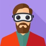 Virtuele werkelijkheidshoofdtelefoon Stock Foto's