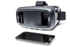 Virtuele werkelijkheidsvr glazen Stock Afbeelding
