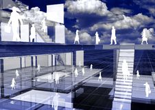 Virtuele Zaken 01 royalty-vrije illustratie