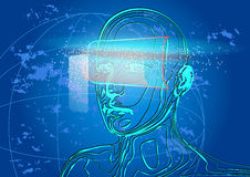 Virtuell verklighet Royaltyfria Bilder