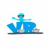 virtuell verklighet för folk 3d Arkivbild