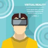 Virtuell verklighet Nya tekniker och på linjen dobbel Arkivfoton
