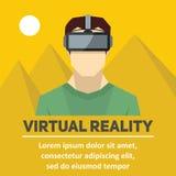 Virtuell verklighet Nya tekniker och på linjen dobbel Royaltyfria Bilder
