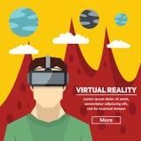 Virtuell verklighet Nya tekniker och på linjen dobbel Fotografering för Bildbyråer