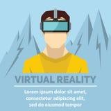 Virtuell verklighet Nya tekniker och på linjen dobbel Arkivbild