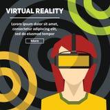 Virtuell verklighet Nya tekniker och på linjen dobbel Arkivfoto