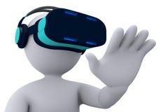 Virtuell verklighet - stickman-3 Arkivfoto