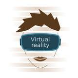 Virtuell verklighetbegrepp Royaltyfri Bild