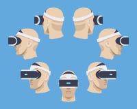Virtuell verklighethörlurar med mikrofon Royaltyfria Foton