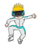 Virtuell verklighetpojke Royaltyfria Bilder