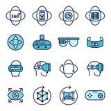 Virtuell verklighetsymboler Arkivbild