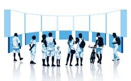 Virtuelle Ausstellung Stockbilder