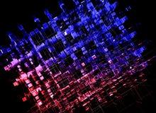 Virtuelle Bau-Reihe Hintergrund an bestanden aus rechteckigen Gestaltungselementen in der Perspektive und passend für Gebrauch in vektor abbildung