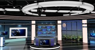 Virtuelle Fernsehnachrichten stellten 27 ein Lizenzfreie Stockfotos