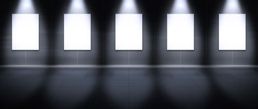 Virtuelle Galerie - Portrait Stockfoto