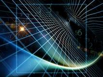 Virtuelle Geometrie Stockbild