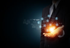 Virtuelle Ikone des Sozialen Netzes Lizenzfreie Stockfotos