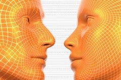 Virtuelle Liebe Lizenzfreies Stockbild