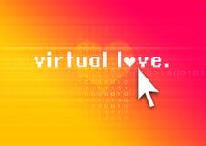 Virtuelle Liebe Stockfotos