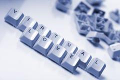 Virtuelle Liebe Stockfoto