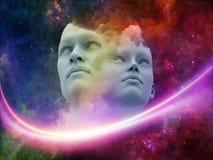 Virtuelle Menschen Stockbild