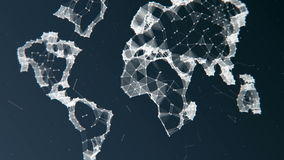 virtuelle Planet Erde stock footage