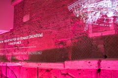 Virtuelle Projektion von Acquedotto Vergine Rom Lizenzfreies Stockbild