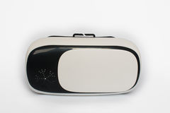 Virtuelle Realität, VR, Sturzhelm und, auf einem weißen Hintergrund stockbild