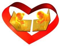 Virtuelle Sitzung der Onlinedatierung Lizenzfreie Stockbilder