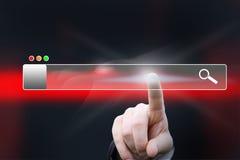 Virtuelle Suchstange Lizenzfreies Stockfoto