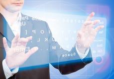 Virtuelle Tastatur stockbilder