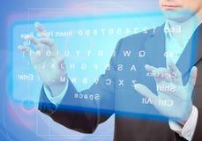 Virtuelle Tastatur. Stockfoto