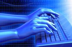 Virtuelle Tastatur Stockfotografie