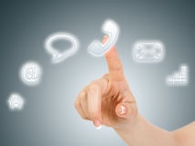 Virtuelle Taste des Telefons Lizenzfreies Stockbild