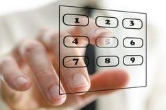 Virtuelle Telefontastatur Lizenzfreie Stockbilder