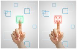 Virtuelle Wahlen Lizenzfreies Stockfoto
